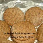 Eggless Crispy Finger Millet / Ragi Butter Cookies