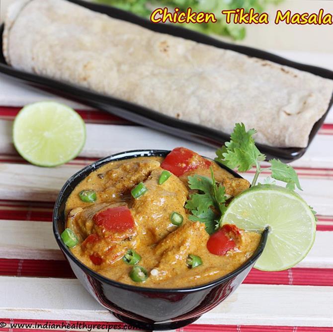 Indian chicken tikka masala gravy is ready
