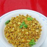 paneer soya bhurji – easy paneer soya granules recipe