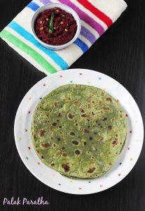 palak paratha recipe swasthis