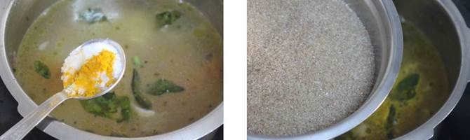 bring water to a boil for broken wheat upma recipe