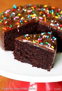Eggless chocolate cake recipe | Moist and soft chocolate cake recipe