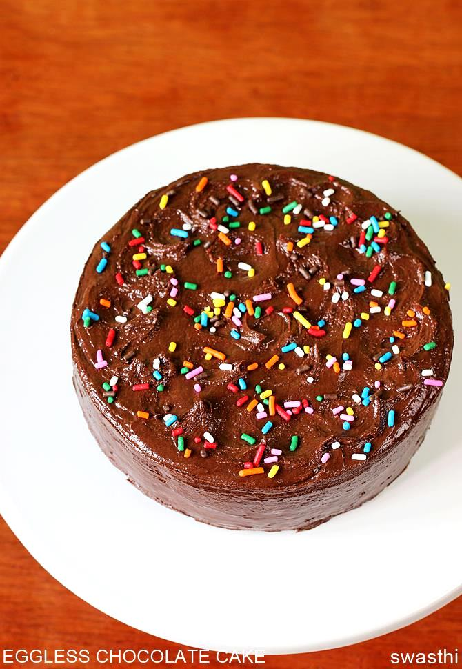 how to make eggless chocolate cake