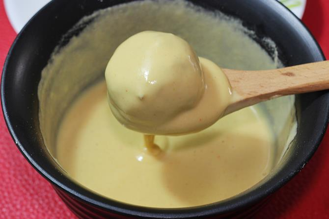 Coat it well with the batter