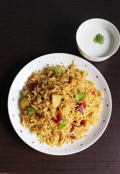 tomato rice recipe | tomato bath recipe | how to make tomato rice