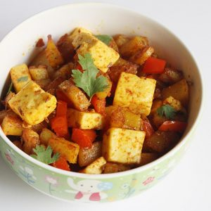 Aloo paneer masala recipe | Dry aloo paneer | Easy paneer recipes