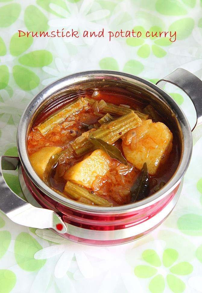 drumstick curry with potato
