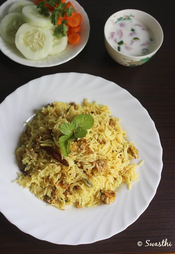 egg biryani recipe scrambled