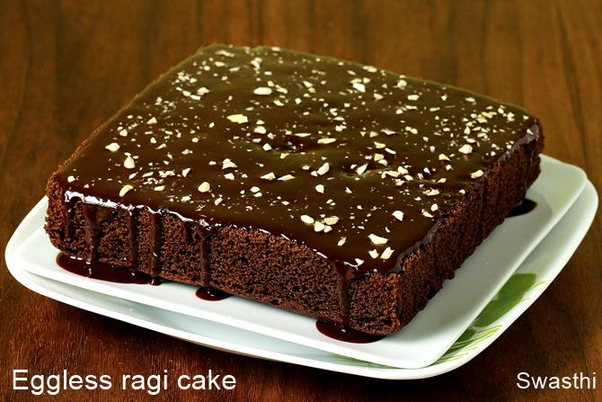 eggless chocolate ragi cake recipe