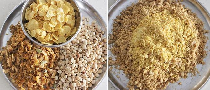 peanut cornflakes ladoo