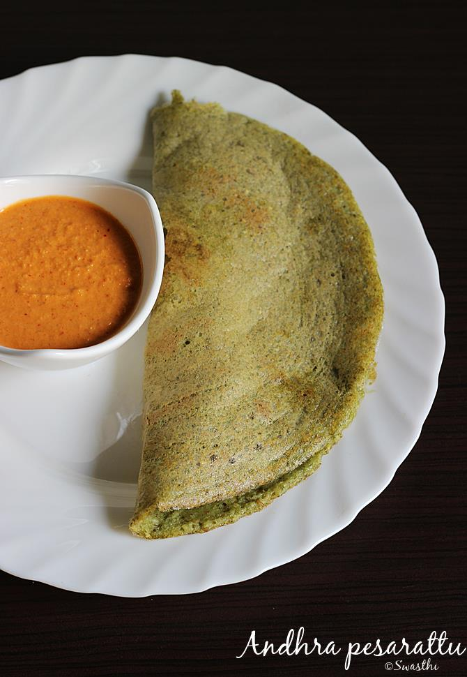 pesarattu recipe moong dal dosa