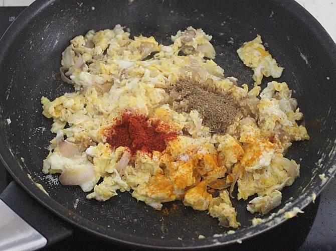 flavorful scrambled anda biryani recipe