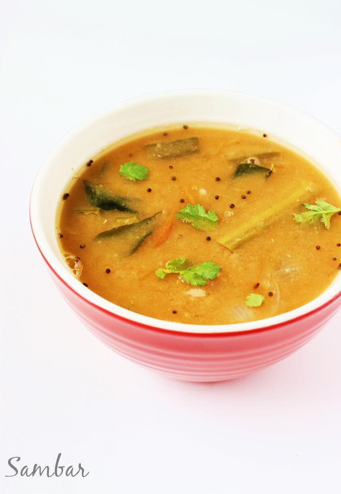 andhra sambar recipe south indian sambar recipe made by swasthis recipes