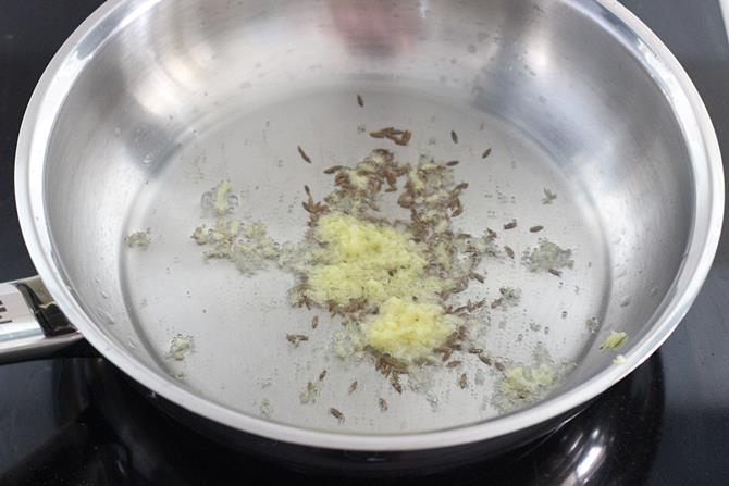 Heat up a heavy bottom pan with oil