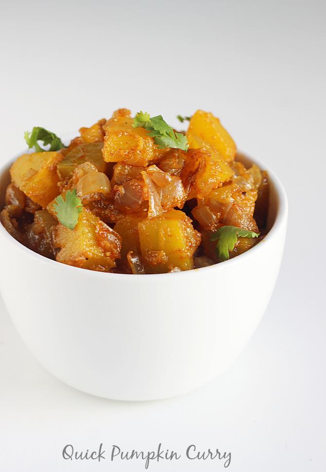 kaddu ki sabzi or pumpkin curry recipe