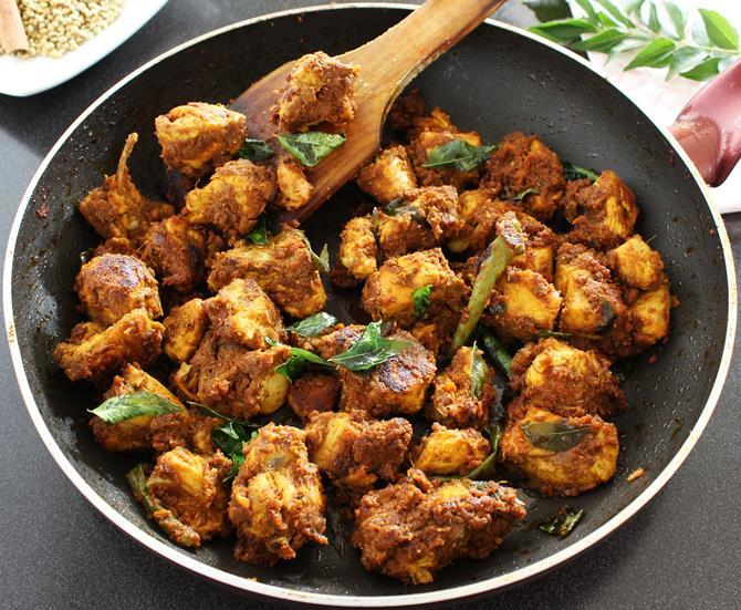 garnished andhra chicken fry