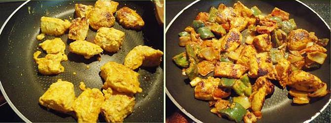 grilling in oven or stove top for making chicken tikka masala recipe