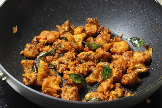 Add fried cauliflower