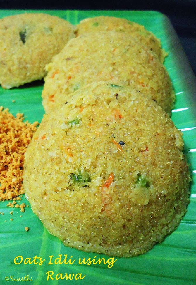 oats idli recipe with whole wheat