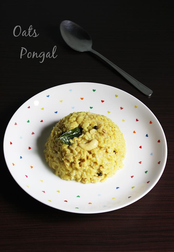 oats pongal recipe swasthis recipes