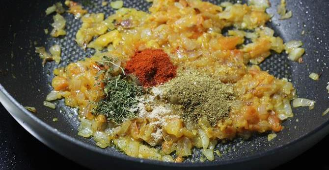 fry tomatoes add spice powders for paneer sandwich recipe