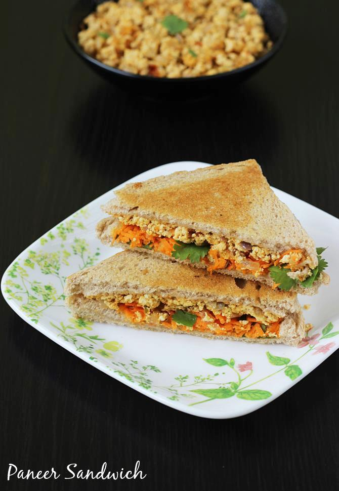 Paneer sandwich recipe how to make paneer sandwich recipe paneer sandwich swasthis recipes forumfinder Gallery