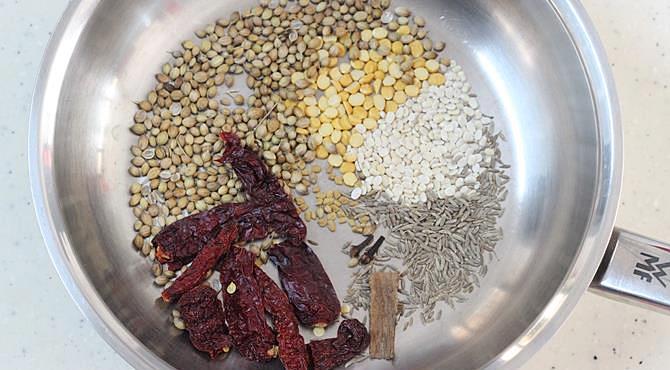 Bisi bele bath recipe karnataka style bisibelebath karnataka recipes dry roasting spices in a pan forumfinder Image collections