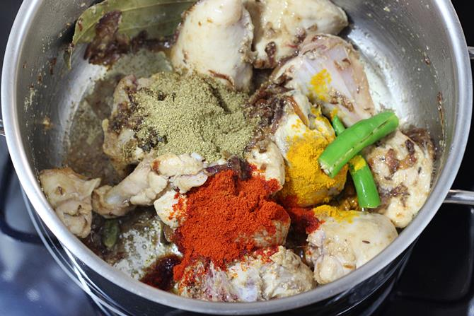 spice powders , salt for chicken biryani recipe