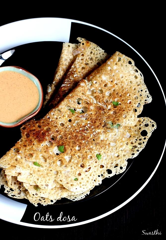 oats dosa swasthi