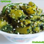 aloo palak recipe | quick and easy