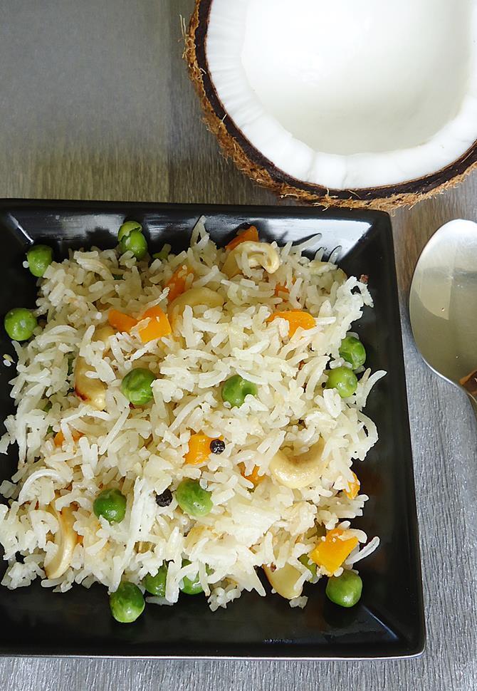 indian coconut milk rice recipe