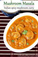 mushroom masala gravy curry