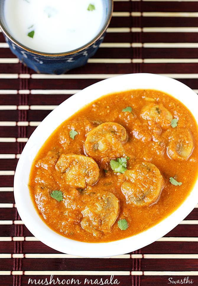 mushroom masala recipe swasthi