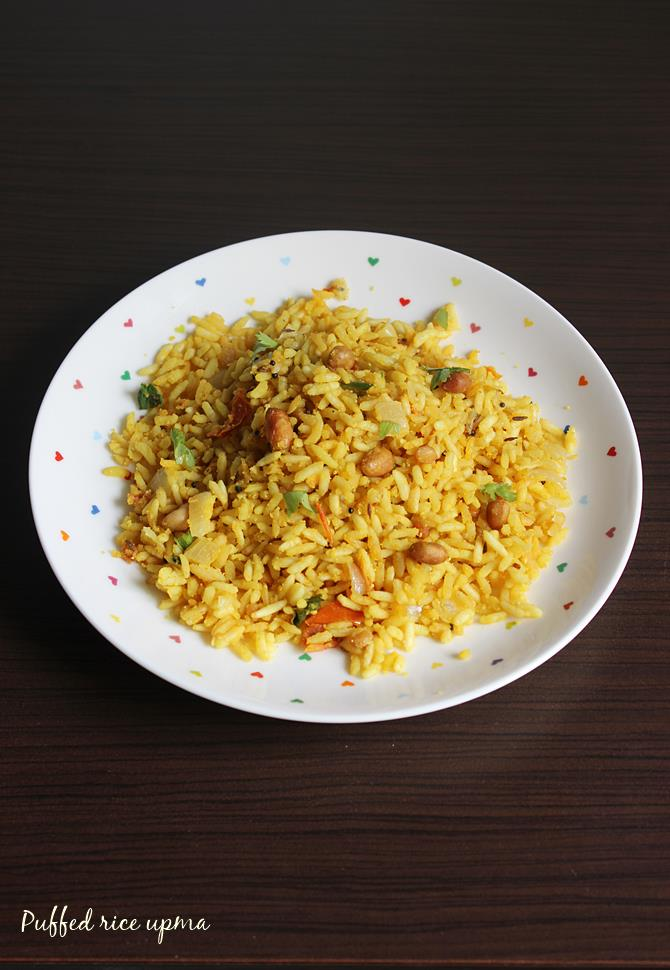 puffed rice upma swasthis recipes borugula upma