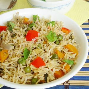 Vegetable biryani in pressure cooker recipe | How to make veg biryani