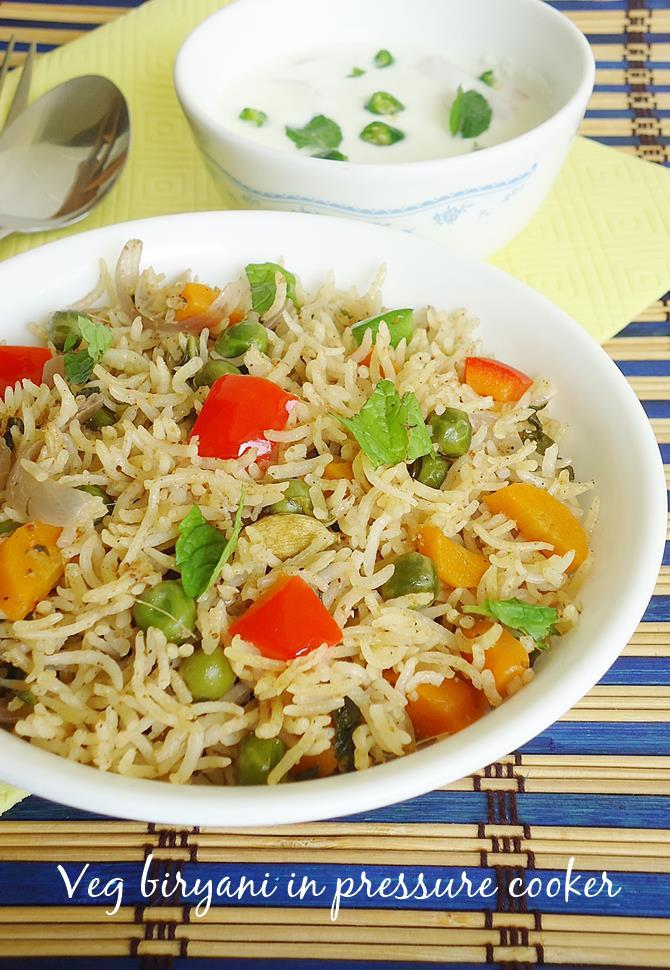 Vegetable biryani in pressure cooker how to make veg biryani recipe vegetable biryani in pressure cooker recipe forumfinder Images