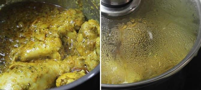pressure cooking rice for muslim chicken or mutton biryani recipe