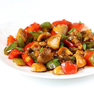 Chilli mushroom stir fry recipe| How to make chilli mushroom dry