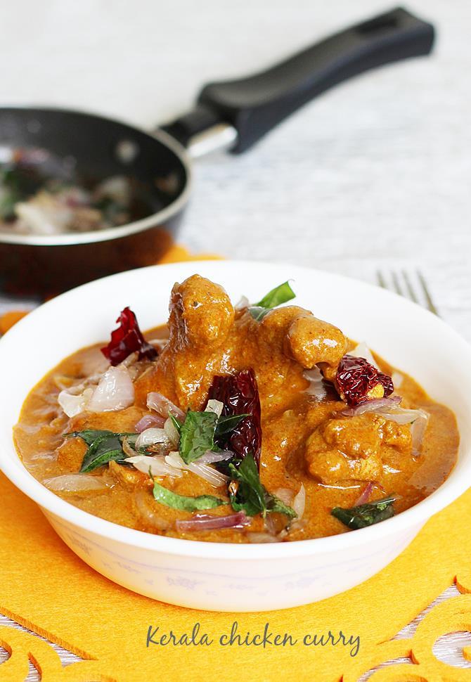 Kerala Chicken Curry Recipe Nadan Chicken Curry Recipe With