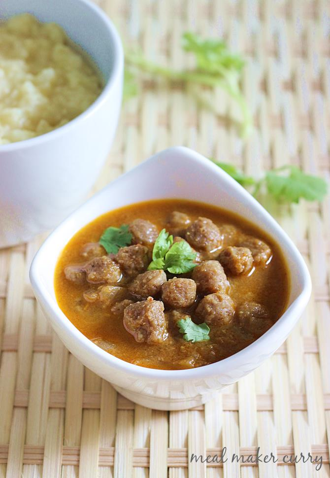 Soya chunks curry recipe meal maker curry soya chunks recipes meal maker curry recipe swasthis recipes forumfinder Gallery