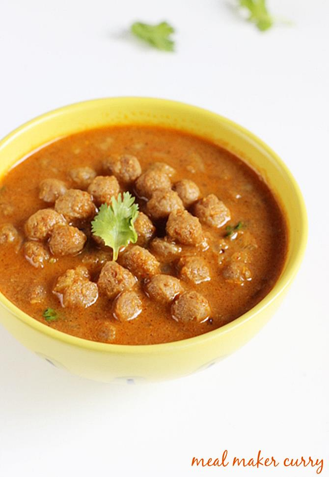Soya chunks curry recipe meal maker curry soya chunks recipes soya chunks curry recipe meal maker curry recipe forumfinder Choice Image