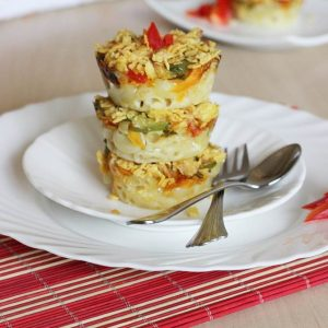 baked pasta muffins recipe | kids pasta recipes