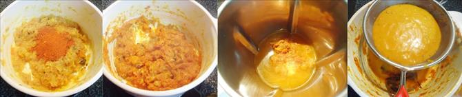 puree fried onion tomato for fish tikka masala