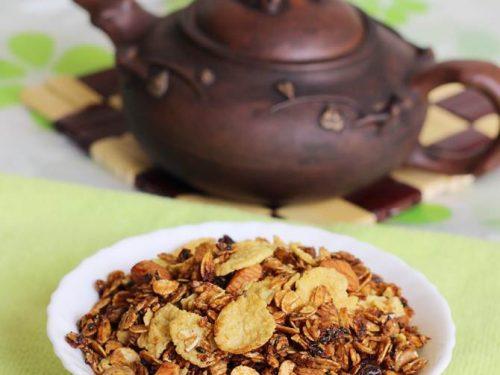 homemade granola on stove top