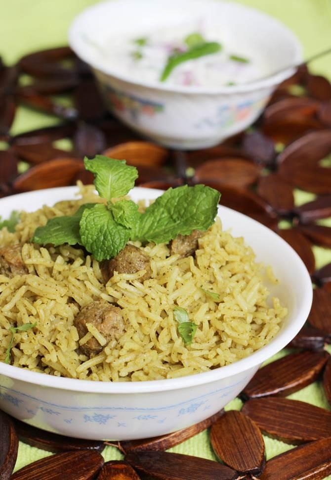 soya chunks biryani recipe swasthis recipes