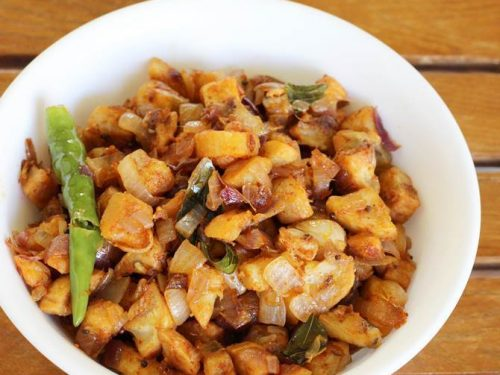 aratikaya vepudu recipe