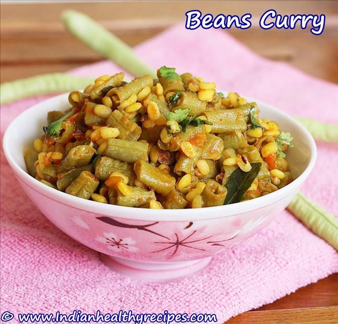 Indian style beans curry for rice chapathi