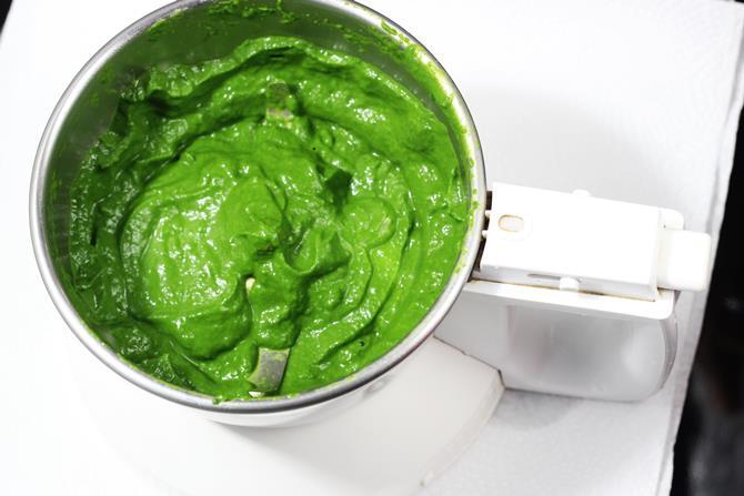 chili spinach puree