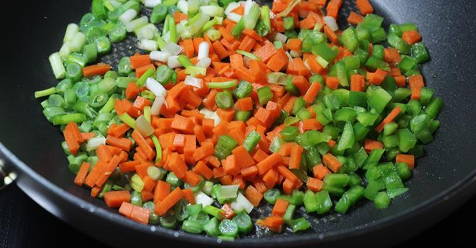 addd chopped veggies