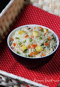 paneer fried rice recipe swasthi